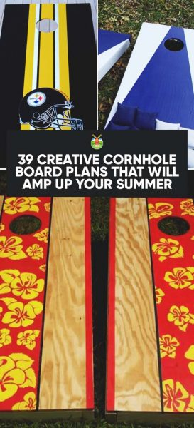 cornhole board plans title image