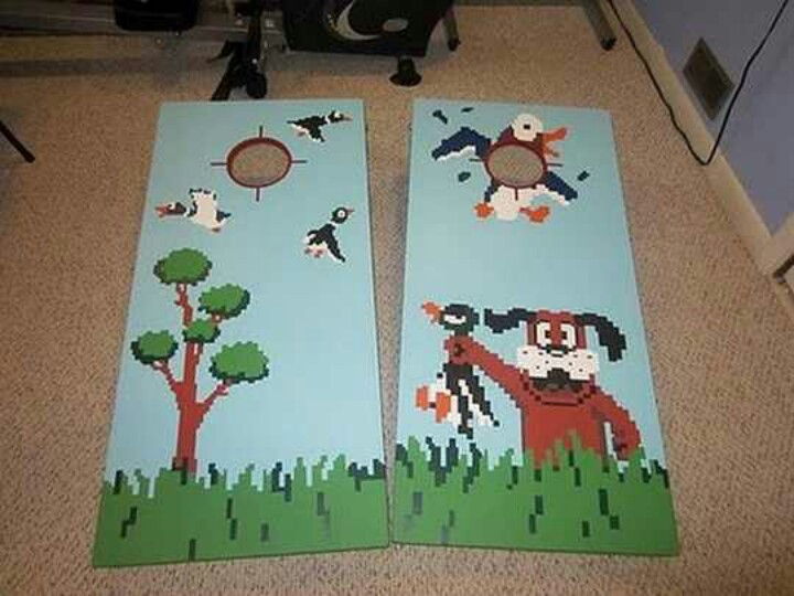 cornhole board plans for duckhunt