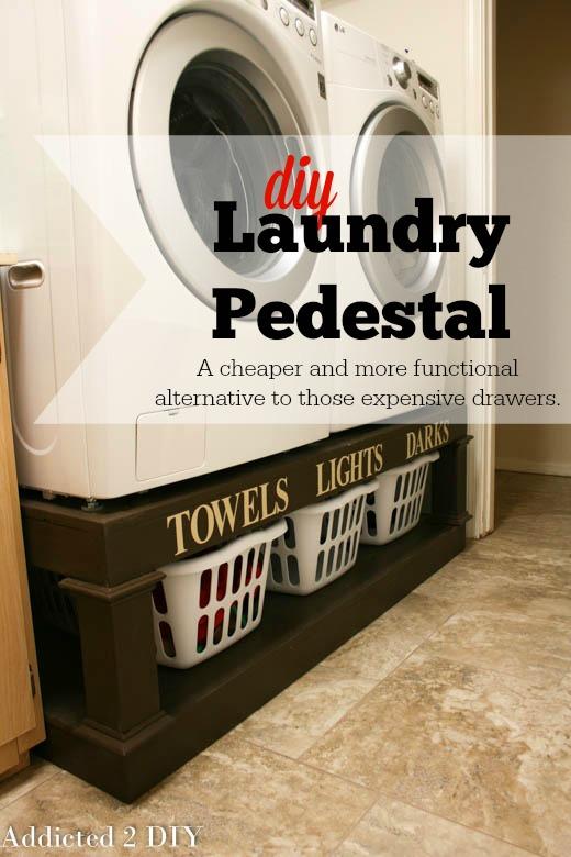19 The Diy Laundry Pedestal