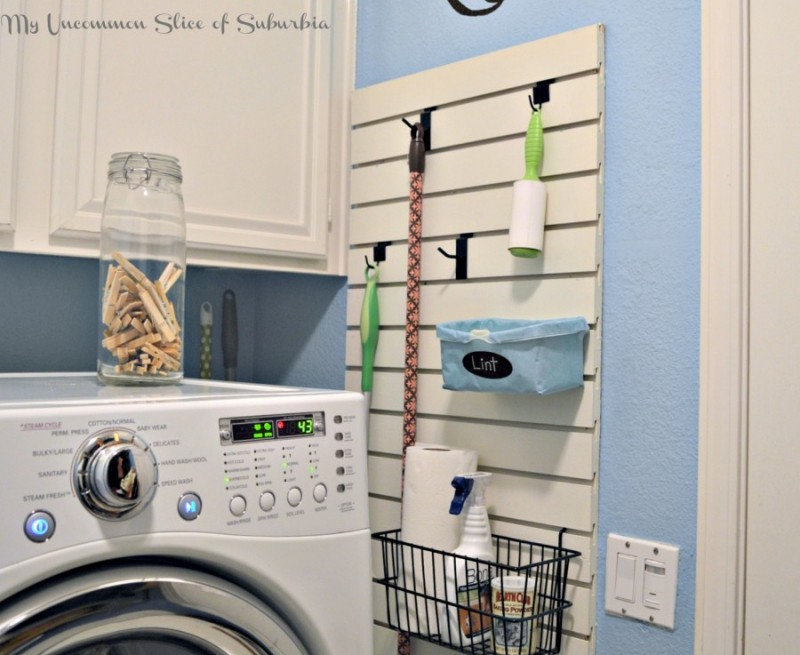 This Peg Wall Is A Great Way To Organize All Of The Things That Often Clutter Laundry Room For Instance You Could Hang Your Broom And Mop On Well