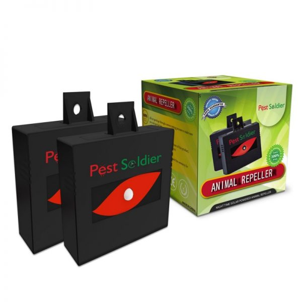 Pest Soldier Nighttime Solar Powered Animal Repeller 2 Pack