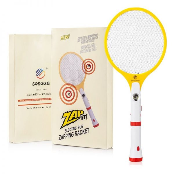 Sosoon Bug Zapper Rechargeable Handheld Mosquito Fly Swatter