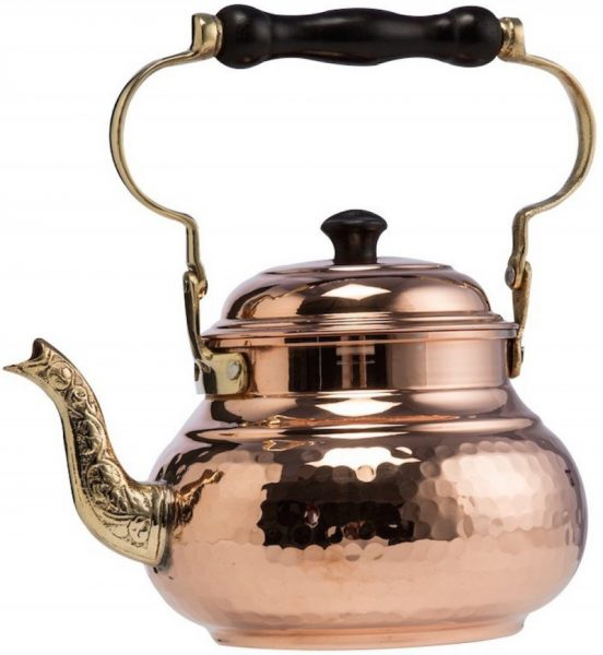 DEMMEX 2017 1.6-quart Hammered Copper Stovetop Teapot Kettle