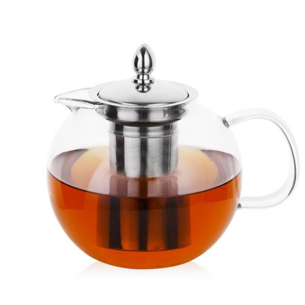 Hiware 45oz Glass Teapot with Removable Infuser