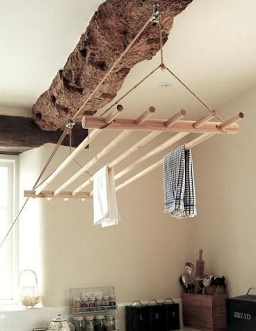 inhome clothesline ideas