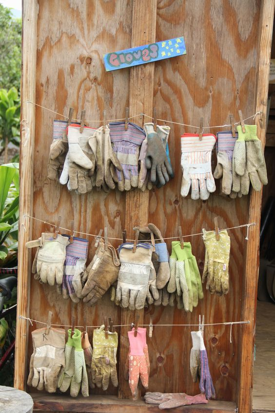 gloved clothesline ideas