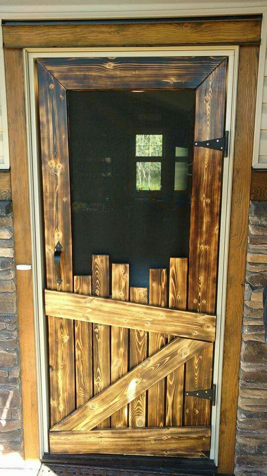 I Love The Way This Screen Door Looks It Doesn T Come With A Tutorial But If You Are Familiar Making Things Yourself Then Hopefully Can Figure