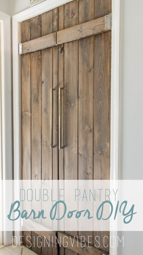Barn Door Double Pantry