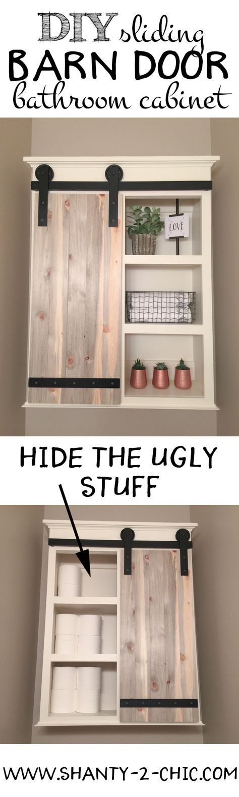 How to make a barn door cabinet
