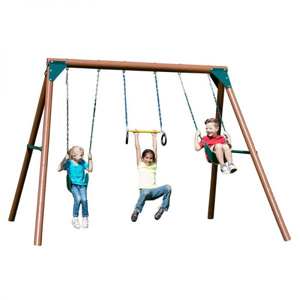 Swing-N-Slide PB 8330 Orbiter Wood Complete Swing Set