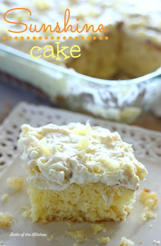 easy dessert recipes sunshine cake