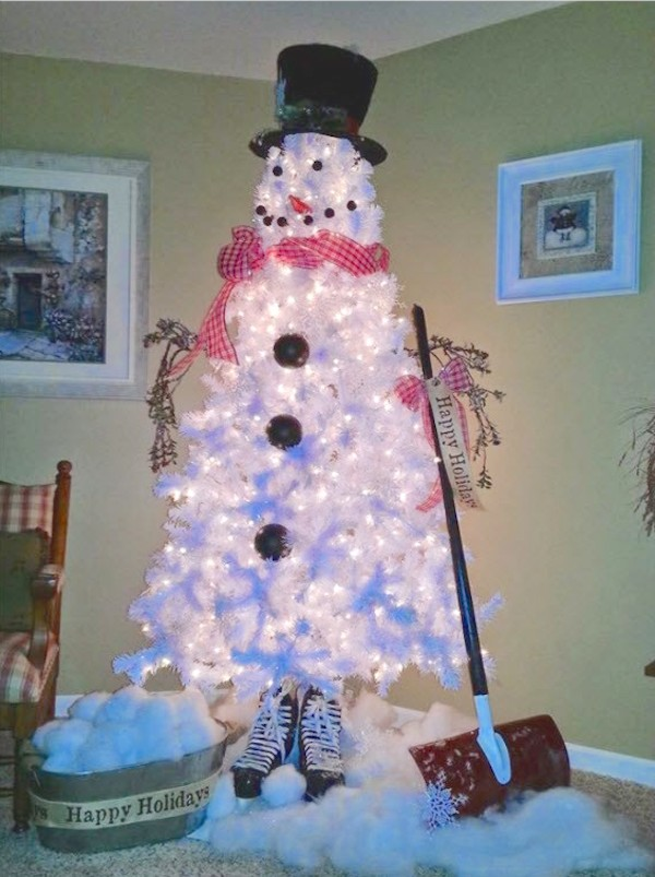 White Christmas Tree Design.30 Gorgeous Christmas Tree Decorating Ideas You Should Try