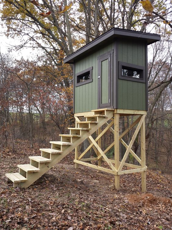 20 Free DIY Deer Stand Plans and Ideas