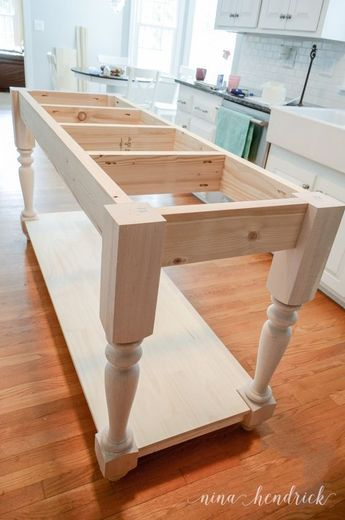 Do you want a kitchen island that adds a little bit of u0027fancyu0027 to your kitchen? If so then youu0027ll want to check out these plans. & 25 Gorgeous DIY Kitchen Islands to Make Your Kitchen Run Smoothly
