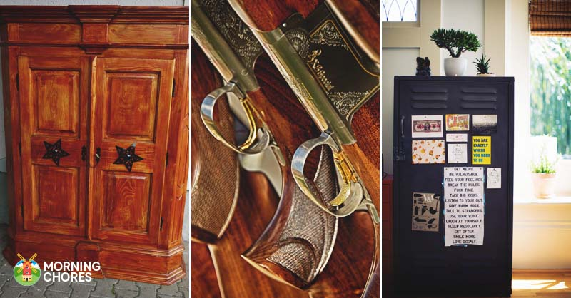 21 interesting gun cabinet and rack plans to securely store your guns malvernweather