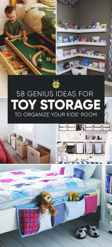 58 Genius Toy Storage Ideas Organization Hacks For Your Kids Room