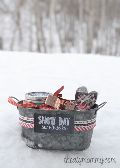 gift basket ideas for a snowy day
