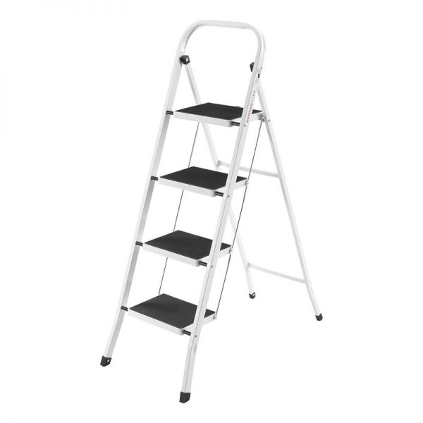 VonHaus Steel Folding Portable 4-Stepladder