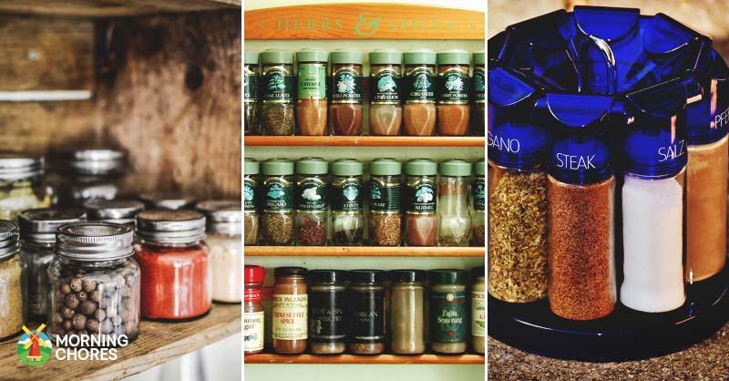 16Jar Kitchen Rotating Spice Storage 16 ABS Jars Holder Revolving Flavour Herb
