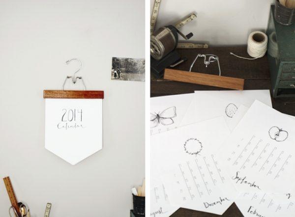Hanging DIY calendar