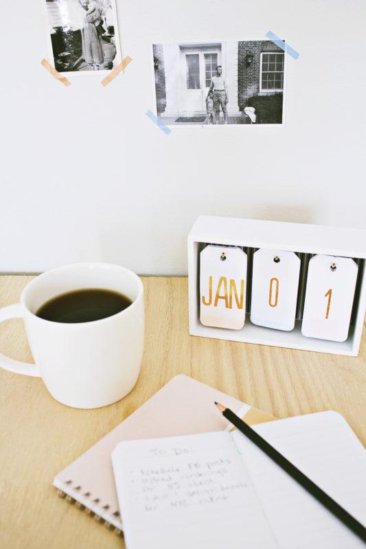 Ombre DIY calendar