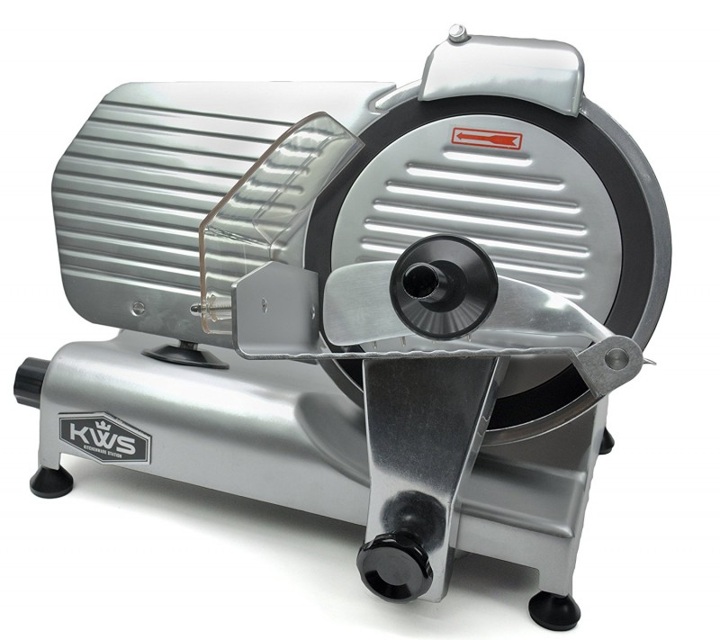 KitchenWare Station Premium Commercial 320w 10-inch Electric Meat Slicer