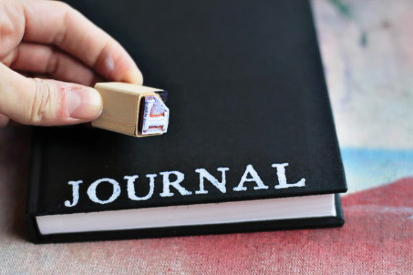 Stamping your own DIY journal