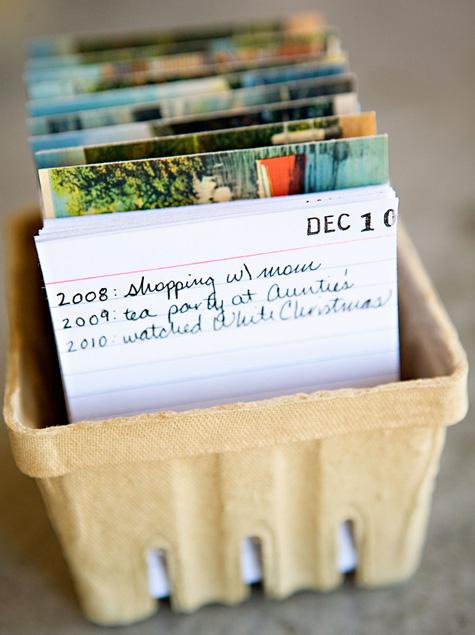 DIY calendar from cards