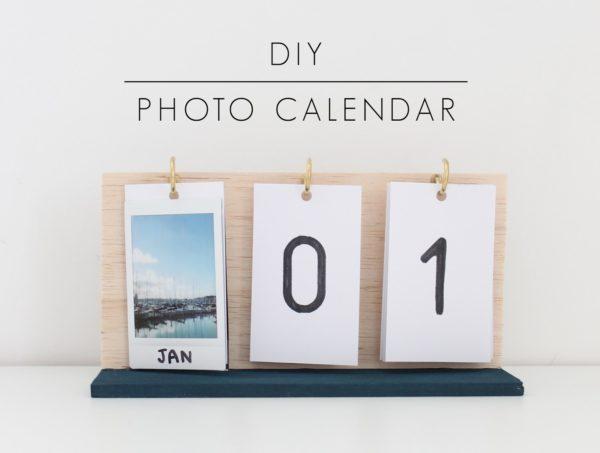 photo DIY calendar