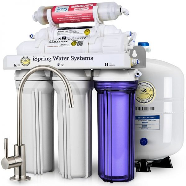 iSpring 6-Stage Under-Sink Reverse Osmosis Drinking Water Filtration System