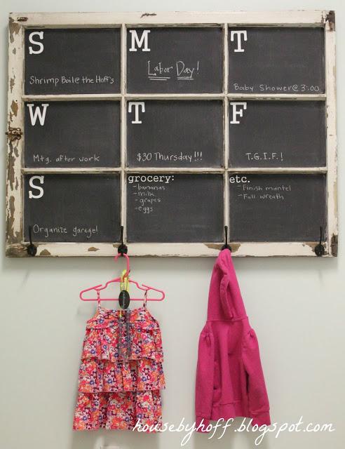 DIY calendar from window pane
