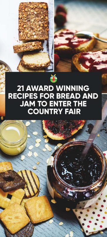award winning recipes for bread and jam title card