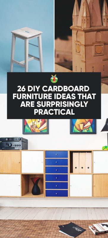 26 diy cardboard furniture ideas that are surprisingly practical rh morningchores com