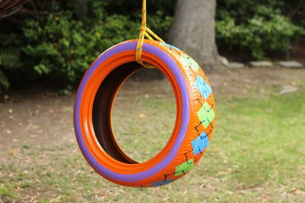 It Is More The Pattern On This Painted Tire Swing That Caught My Eye As Opposed To Making Of Itself Unsurprisingly
