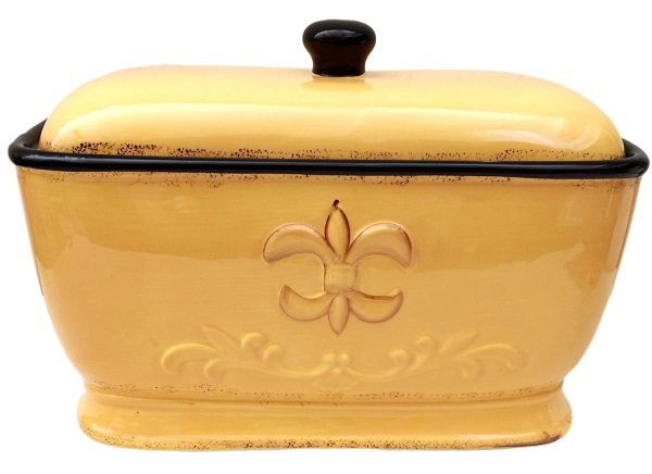 A.C.K Trading Co. Tuscany Fleur De Lis Breadbox
