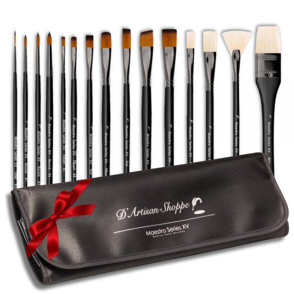 DArtisan Shoppe Maestro Series XV 15-Piece Art Paint Brush Set
