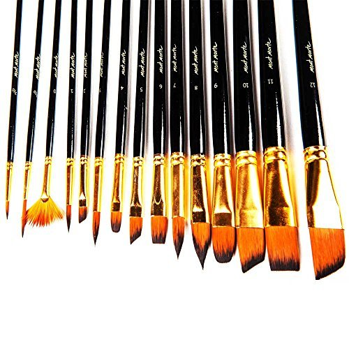 Mont Marte 15pce Art Paint Brushes Set