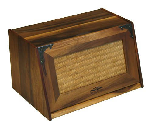Mountain Woods Extra Large Acacia Wood Antique Style Breadbox