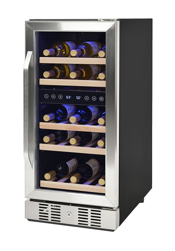 NewAir Compact 15-inch 29 Bottle Dual-zone Compressor Wine Cooler