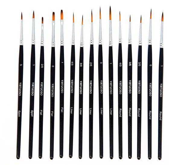 Virtuoso 15-Piece Fine Paint Brush Set