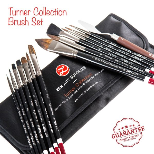 ZenArt Turner Collection 14-piece Professional Artist Brushes Set