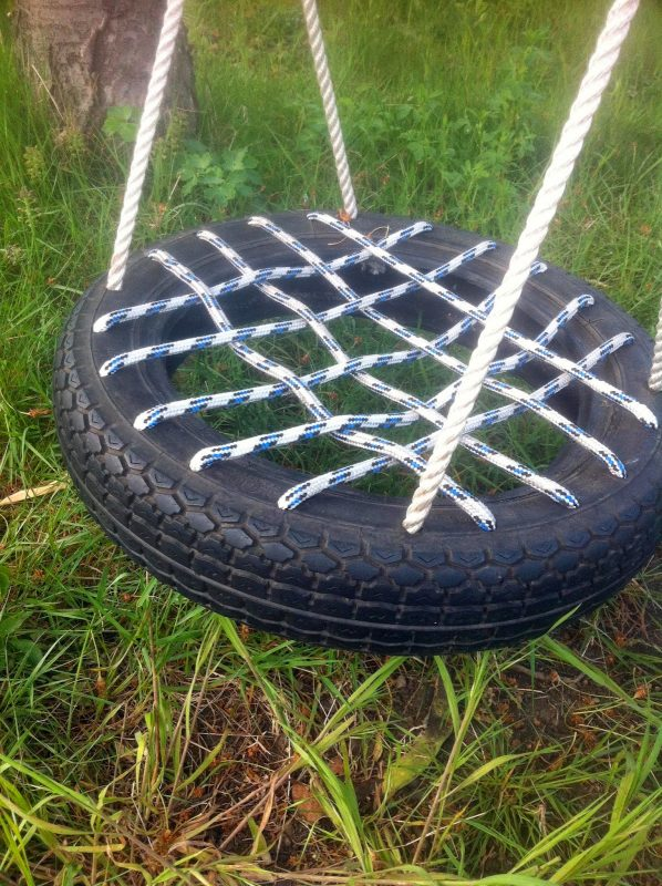 This Nest Style Tire Swing Is The Ultimate Way Of Making A Safe For Smaller Kids Who Would Otherwise Fall Right Through Middle