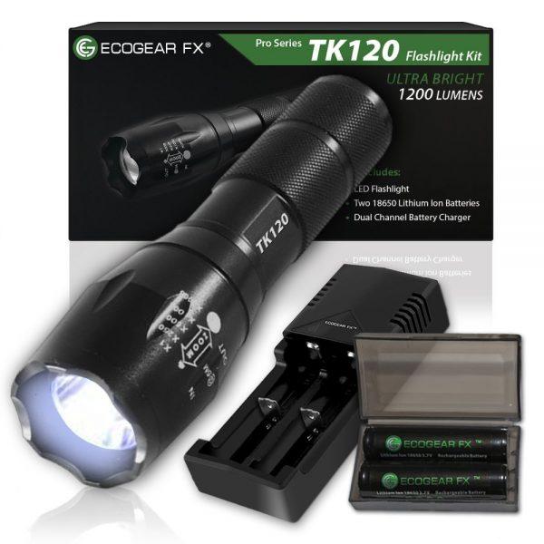 EcoGear FX TK120 Tactical Flashlight Kit