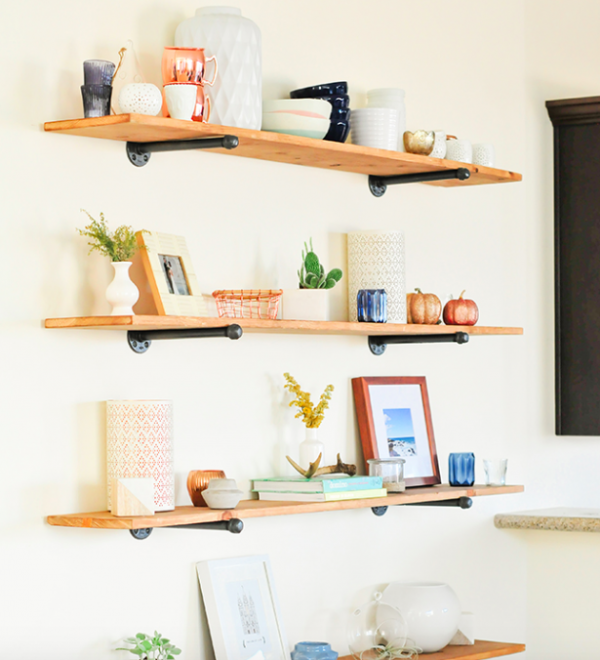 Astonishing 34 Diy Shelving Ideas That Are As Pretty As They Are Practical Home Interior And Landscaping Eliaenasavecom