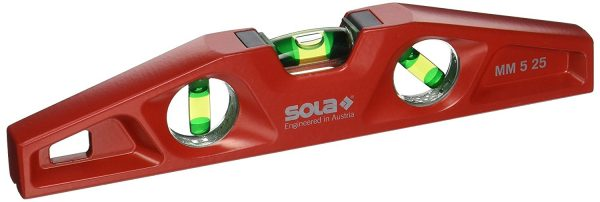 Sola MM 5 25 10-inch Magnetic Torpedo Level