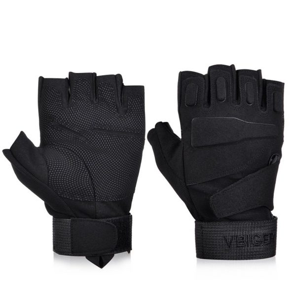 Black Short Cuff Tactical Military Combat Patrol Gloves Glove Pair S M L XL 2XL
