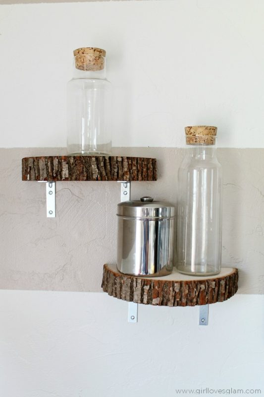 34 Wood Slice Home Décor Ideas: 34 DIY Shelving Ideas That Are As Pretty As They Are Practical