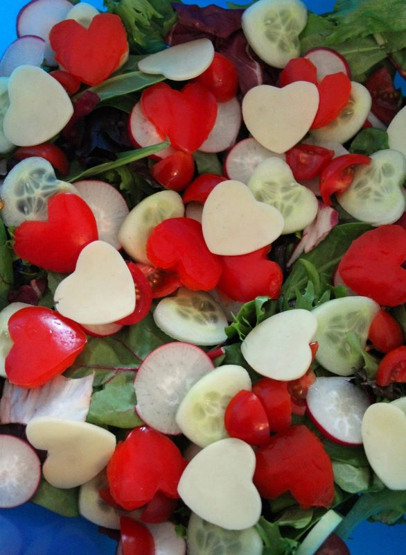 Valetines Heart Salad