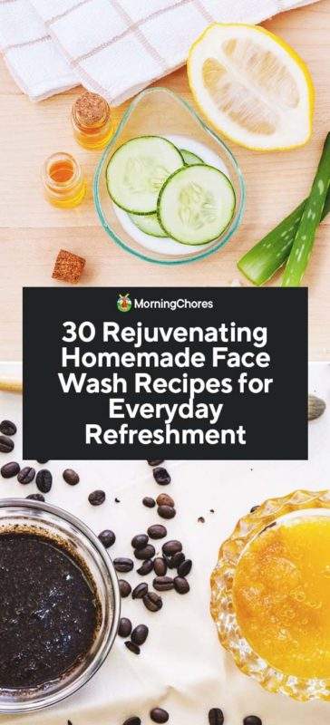 Below is a list of 30 rejuvenating and refreshing homemade face wash recipes that you can try today!