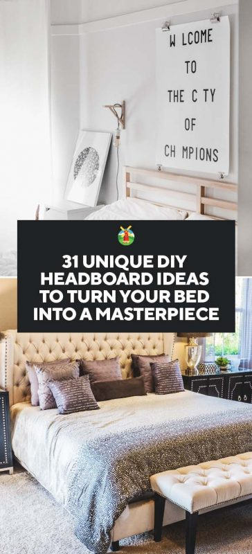 save off f67d0 4ee35 31 Unique DIY Headboard Ideas To Turn Your Bed Into a ...